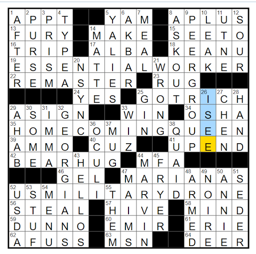 Rex Parker Does The Nyt Crossword Puzzle Jessica Of Fantastic Four Mon 2 1 2021 Bete Raphael Warnock And Jon Ossoff For Two Reader Magazine With The Slogan Cure Ignorance