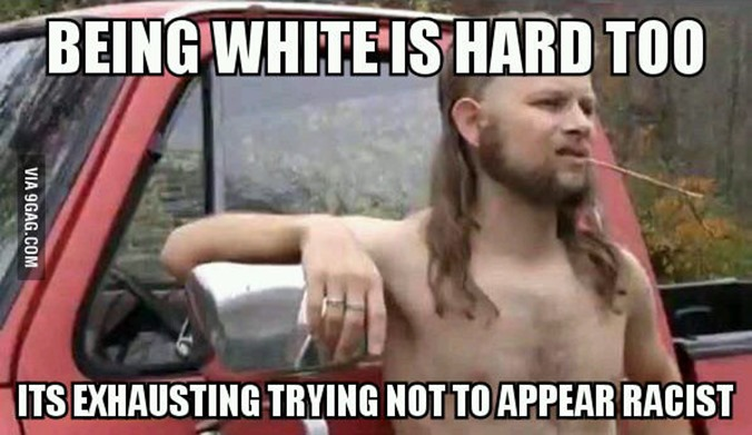 white racist