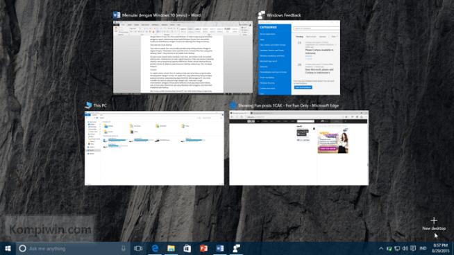 task view dan multidesktop windows 10