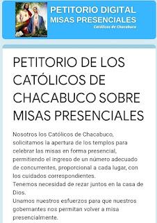 Petitorio misas