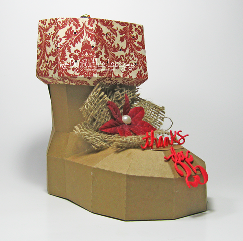 SnapDragon Snippets - Santas's Boot - Blog Hop - Ruthie Lopez - My Hobby My Art