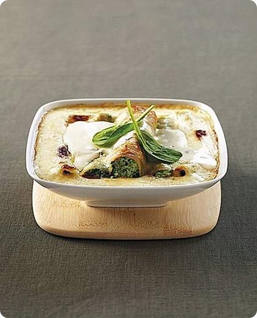 Cannelloni con erbette e gorgonzola