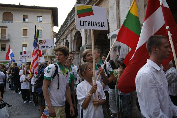 LLSA Lietuvos laipiojimo rinktinė pasaulio čempionate Arco