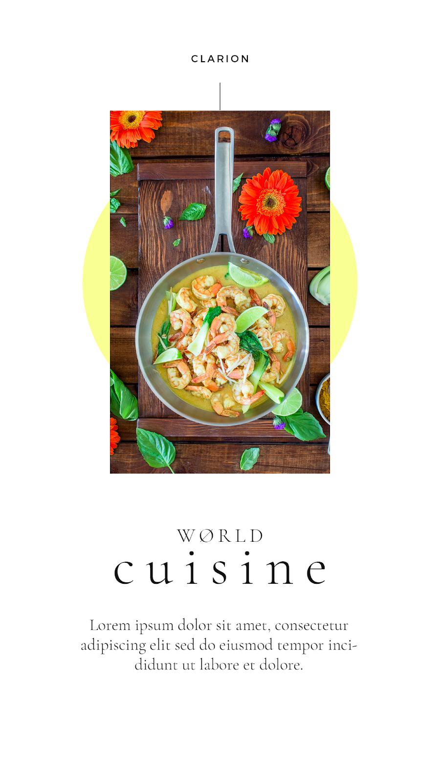 Graphics Eggs World Cuisine Instagram Stories Templates