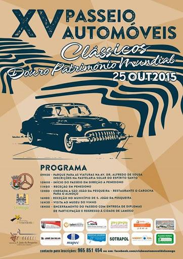 Programa -  XV Passeio de Automóveis Clássicos e Antigos