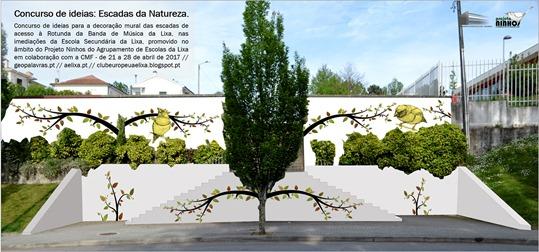 Mural Escadas da Natureza - Projeto Ninhos - Concurso de Ideias