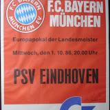 Plakat FCB-Eindhoven 10.1986