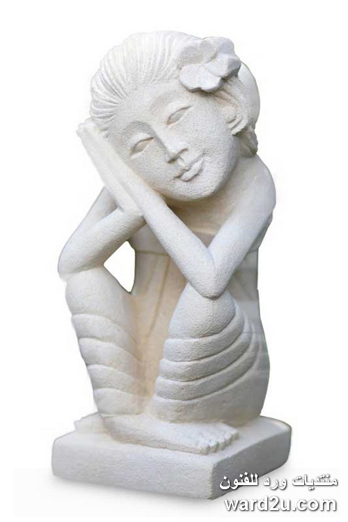 النحت على الحجر الجيرى ابداع الفنان Wayan Kandiyasa