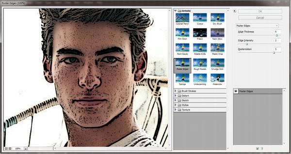 Menggunakan filter gallery untuk membuat efek kartun