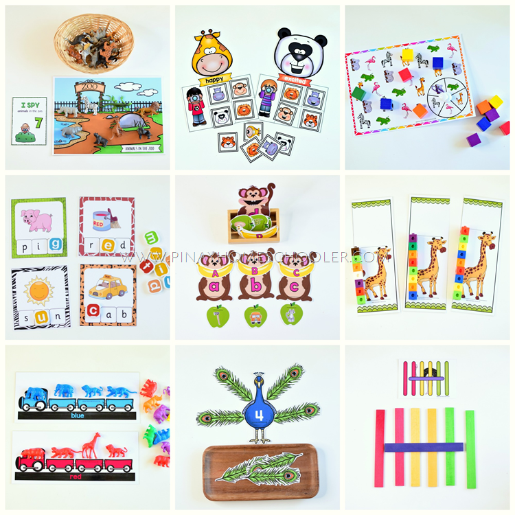 Preschool Learning Zoo Unit Pack