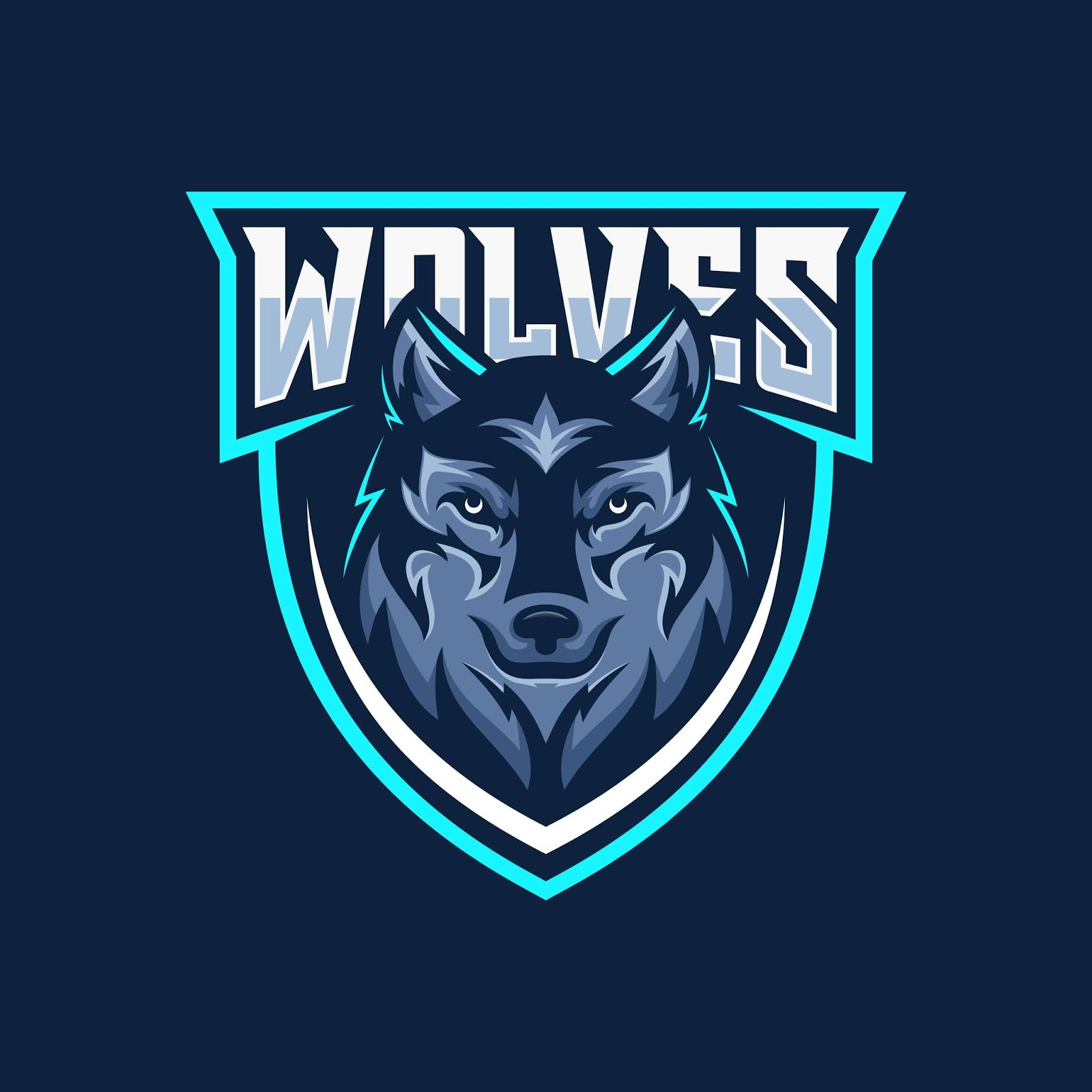 Wild Wolf Esport Mascot Logo Free Download Vector CDR, AI, EPS and PNG Formats