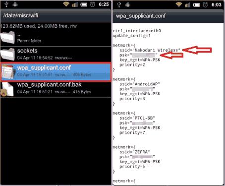 melihat password wifi yang tersimpan di android