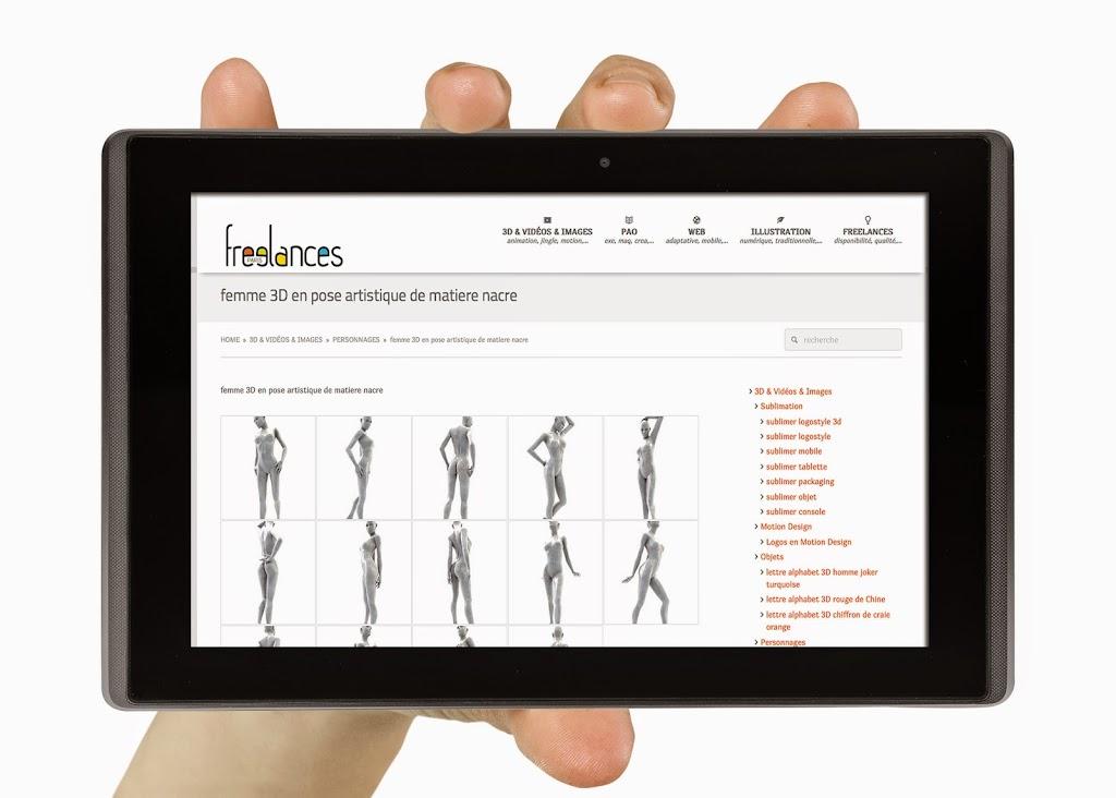capture écran pour tablettes sublimer présentation responsive web design conception site web adaptatif