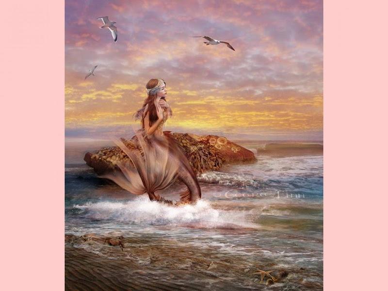 Mermaid In Sunset, Undines