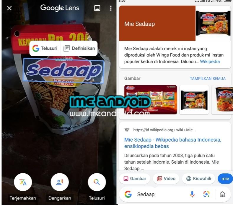 cara pencarian dengan gambar di android