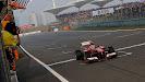 Fernando Alonso wins with his Ferrari F138