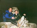 Paul & Andy. Snowdon Summit. Knackard after the Welsh 3000's 20th Sept. 1997