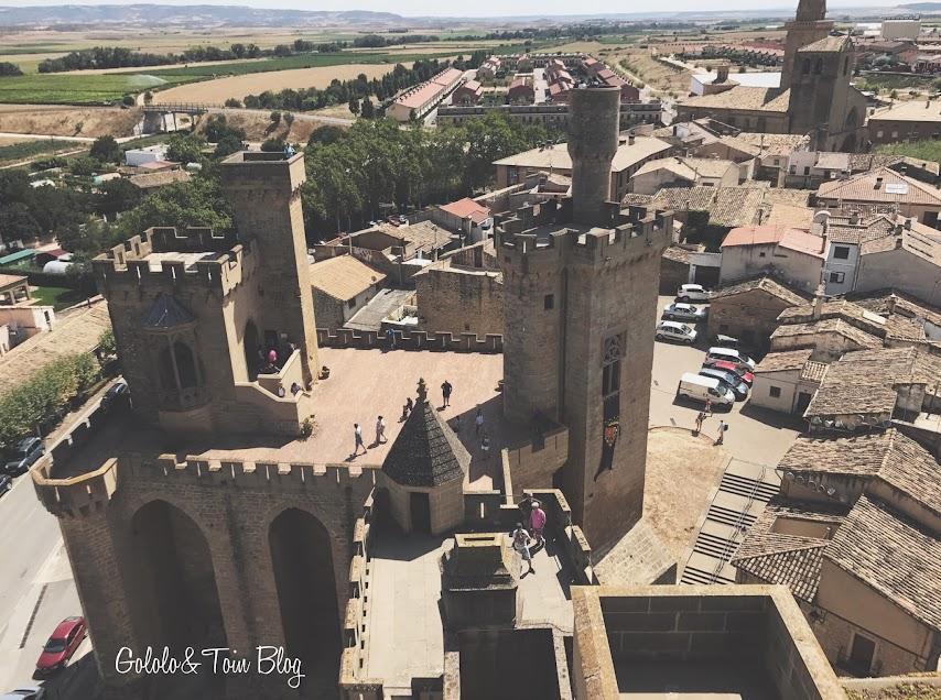 Vistas desde el castillo de Olite en Navarra