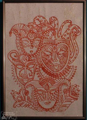 Schilderij Maskers 1