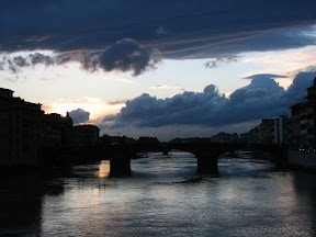 Looking west along the Arno