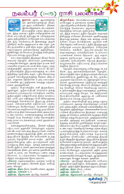 Tamil Raasi Palan 2015 from Kungumam Aanmega Palan