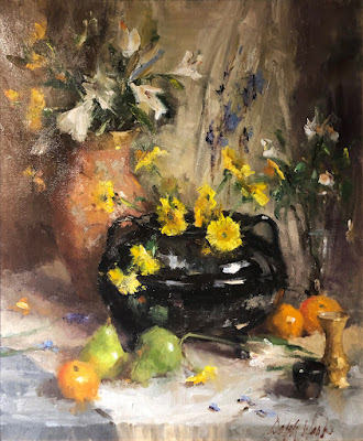 """Still Life With Black Vessel"""