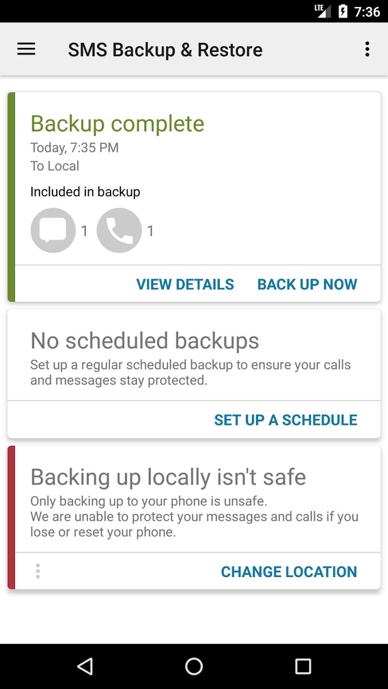 SMS Backup & Restore Screenshot 0