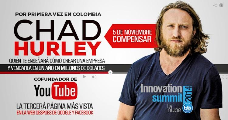 Fundador de YouTube viene a Colombia a enseñarte Cómo crear una empresa de Millones de dólares