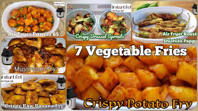 Vegetable Fries in Instant Pot Air Fryer Lid