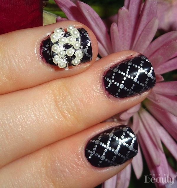 Chanel Inspired Nail Art 1