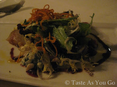Blue Moon Acres Organic Salad at Moshulu in Philadelphia, PA - Photo by Michelle Judd of Taste As You Go