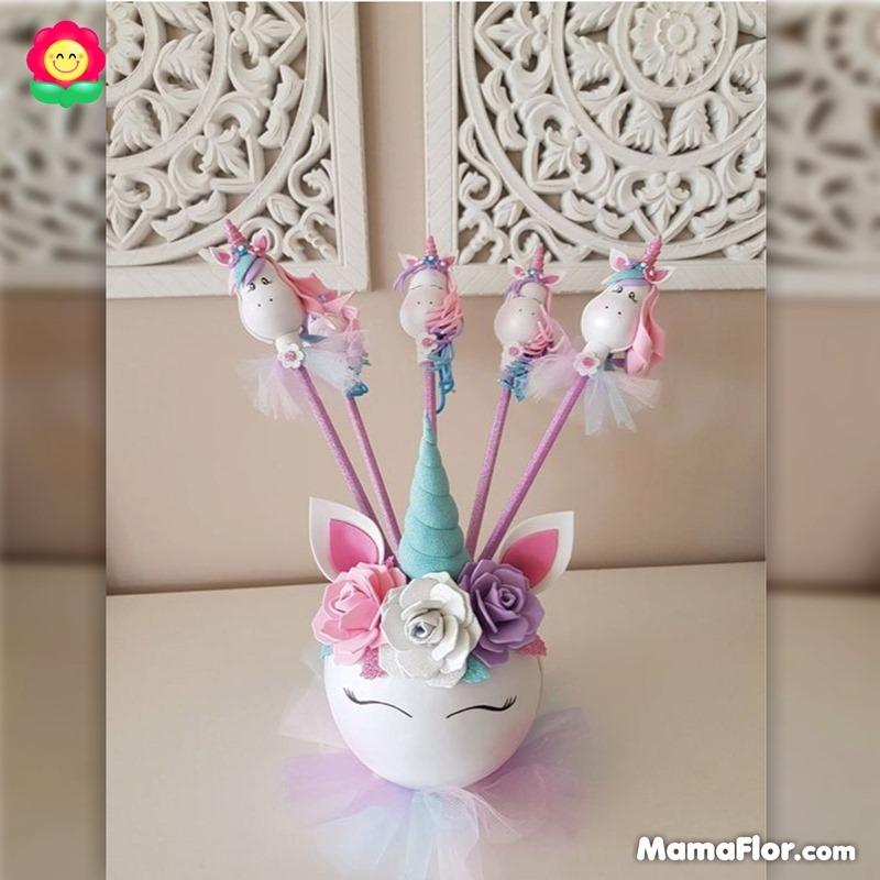 centros de mesa unicornios fiesta 5