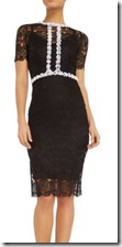 Body Frock Short Sleeve Embellished Lace Dress