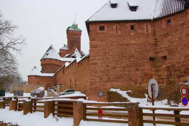 The Castle Haut Koeningsbourg, Alsace; rebuilt for Kaiser Wilhelm II