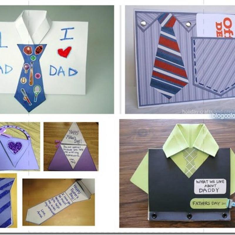 Manualidades día del padre camisas y corbatas