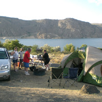 Our camp overlooking Lake Roosevelt