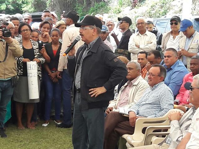 El presidente Danilo Medina presenta proyecto Agroforestal en la provincia de Barahona.