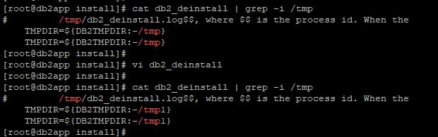 Update db2_deinstall script