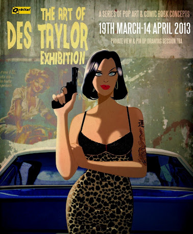 Art of Des Taylor exhibition poster