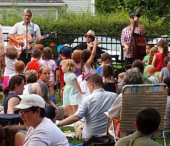 The Outside Toys at an outdoor concert. From Road Trip 101: Kids Music - Matt Heaton's Happy You Made It!