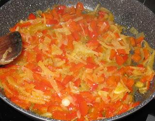 preparation des oeufs cocotte aux poivrons