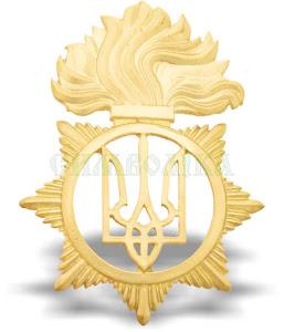 Кокарда Національної гвардії України золота (метал) 2018