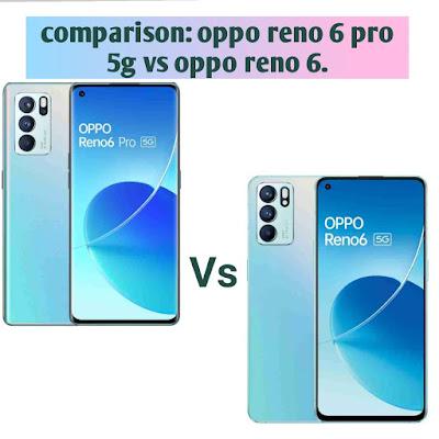 comparison: oppo reno 6 pro 5g vs oppo reno 6.