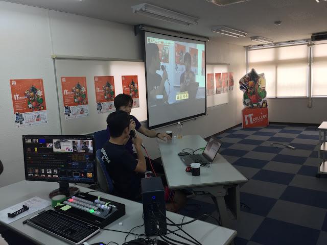 CN19の前に、ITカレッジ沖縄にて講演