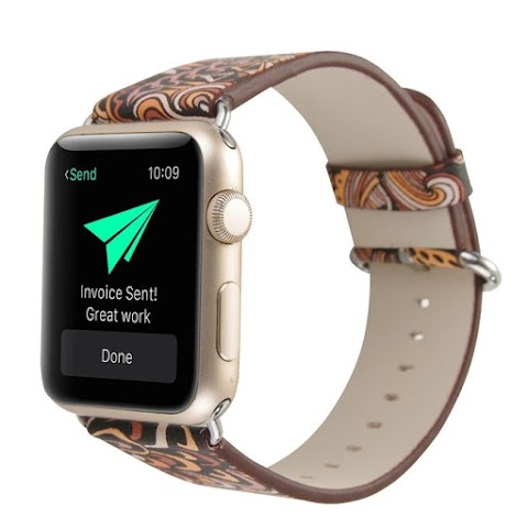 Neworldline Single Tour Leather Band Bracelet Watchband For Apple Watch Series 1/2 38MM C-Colored