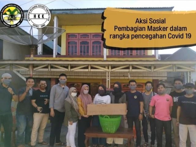 ORMAPELTA-HKK 5 Desa Tanjung Pauh Bagikan Masker Gratis