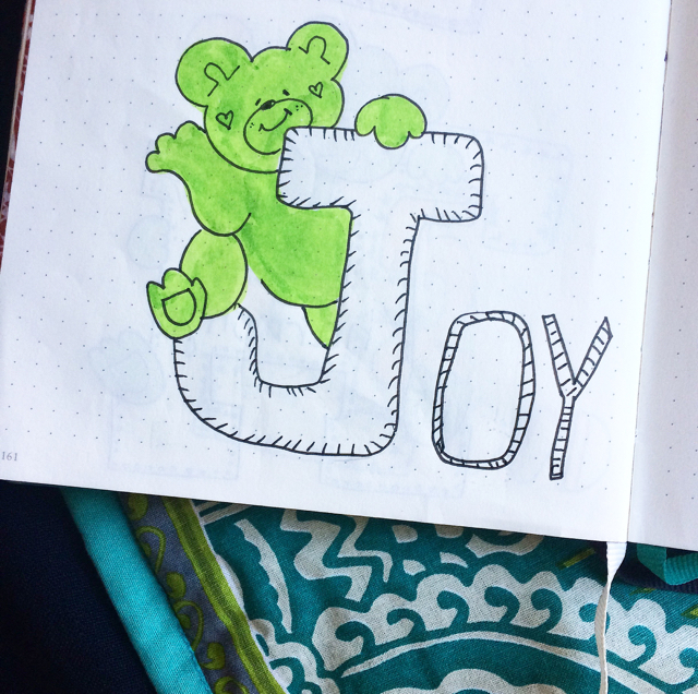 #100DaysOfDoodles | Day 46 | J for Joy | The 100 Day Project