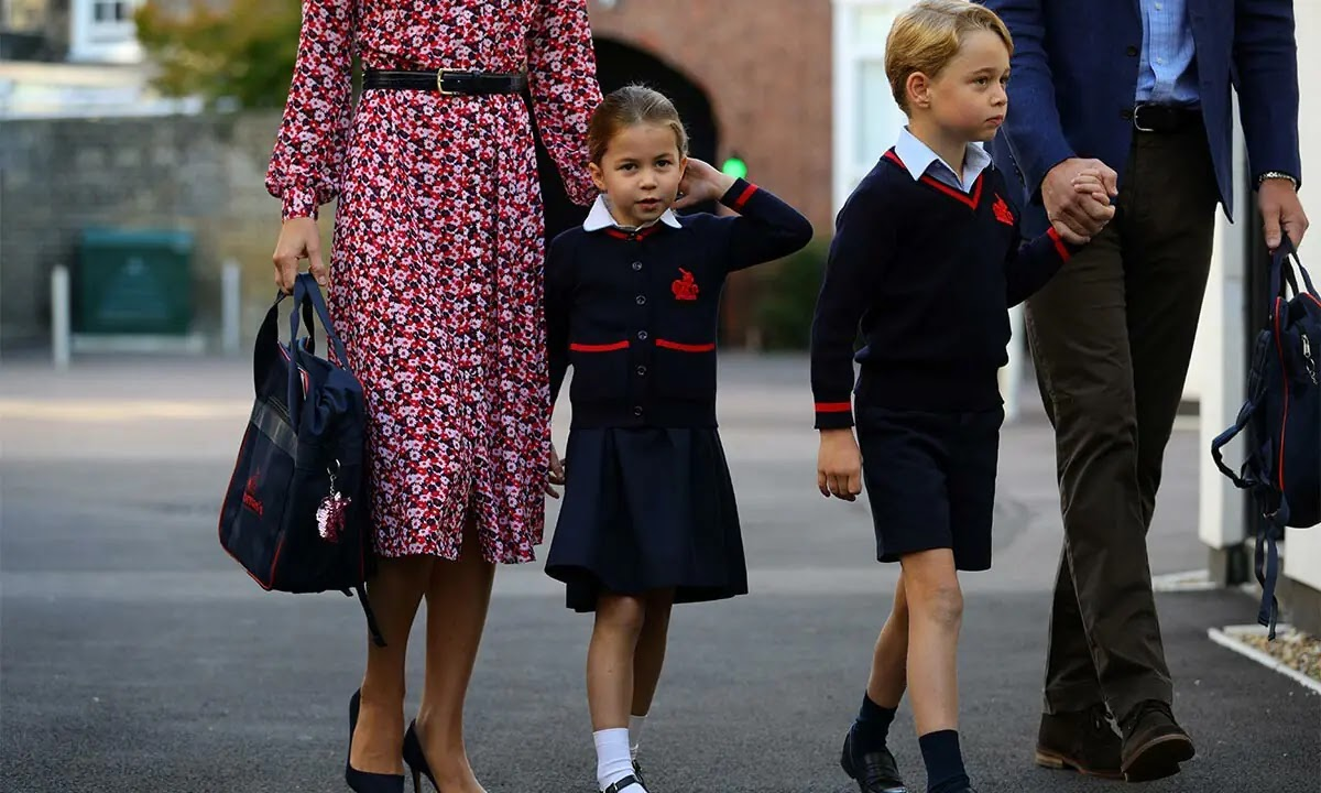 What Prince George and Princess Charlotte are known as at School