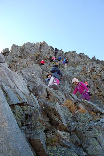 奥穂高岳の登り