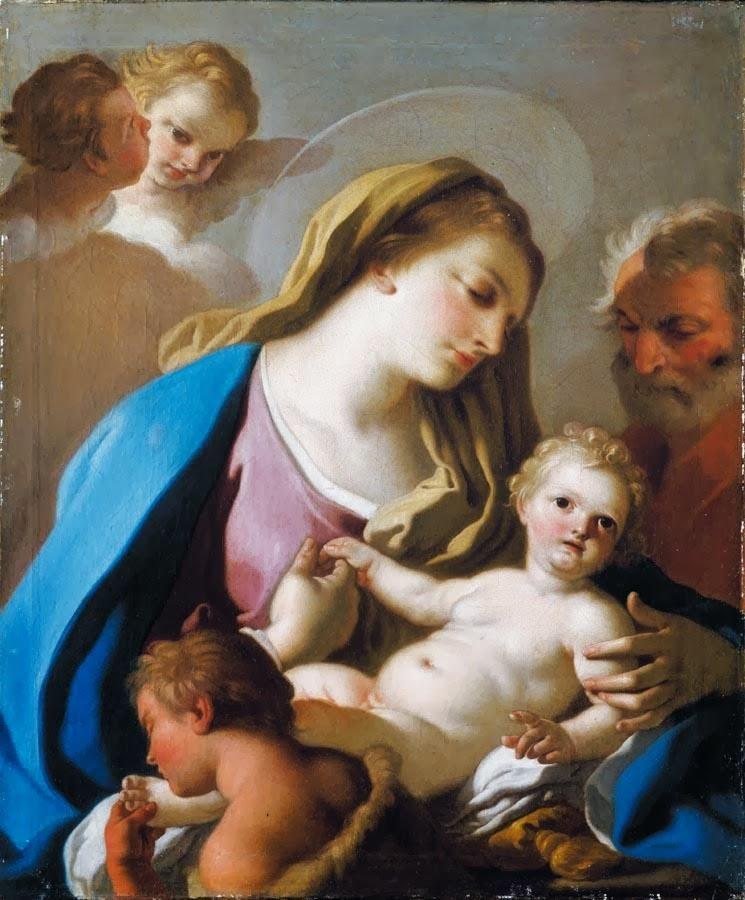 Francesco de Mura - Holy Family with the Infant St John The Baptist